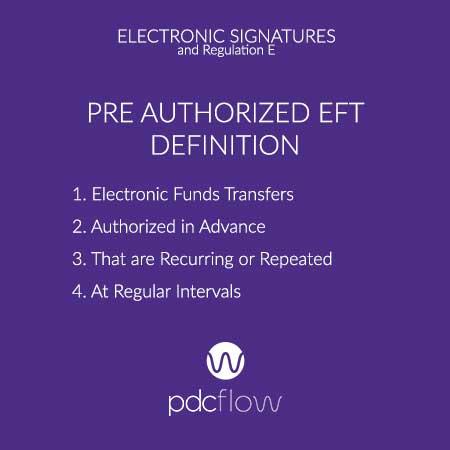 Pre Authorized EFT Definition