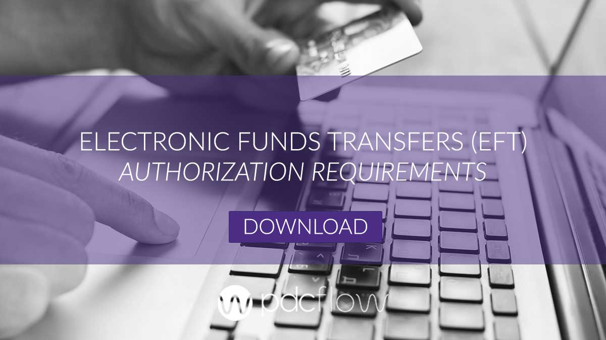 Electronic Funds Transfer (EFT) Authorization Requirements