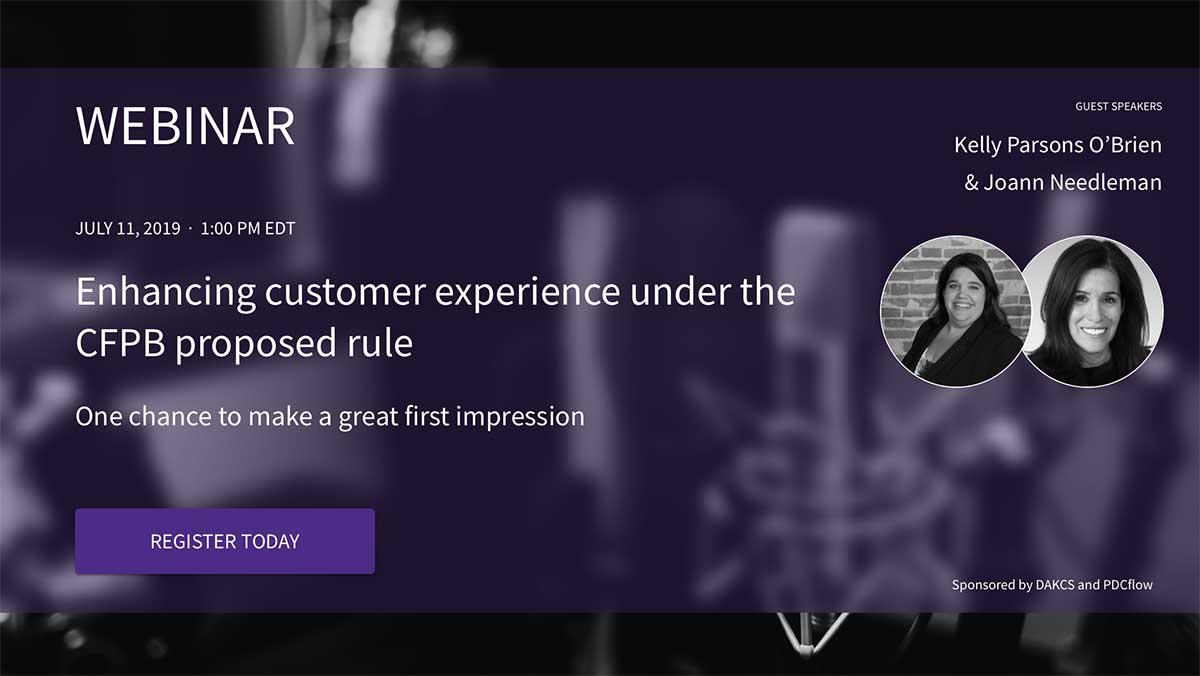 Enhancing the Consumer Experience Webinar