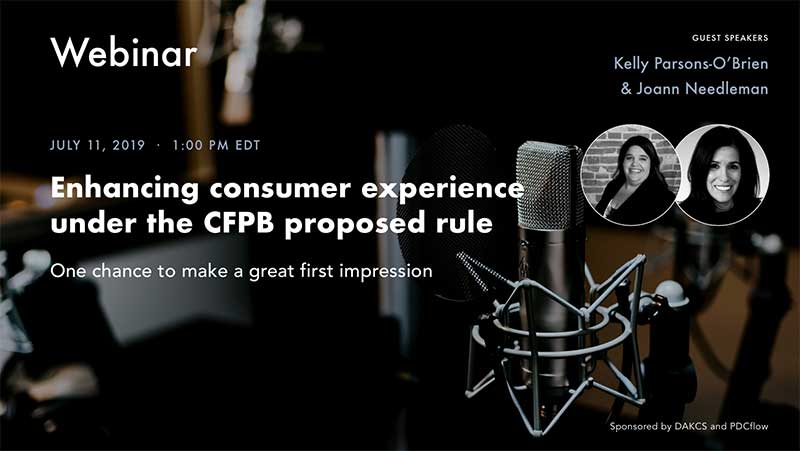 Enhancing the Consumer Experience Under the CFPB Proposed Rule Webinar