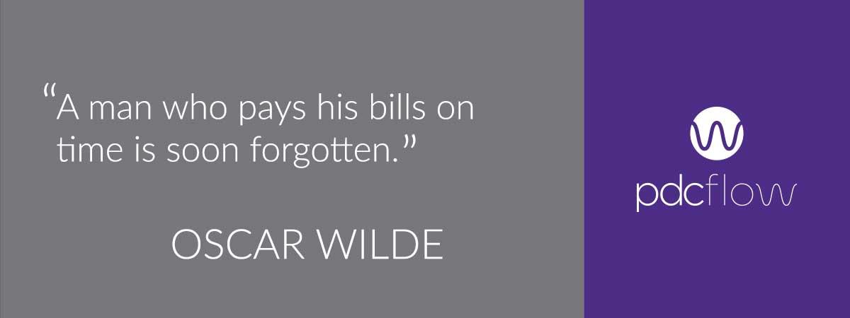 Debt Quote Oscar Wilde