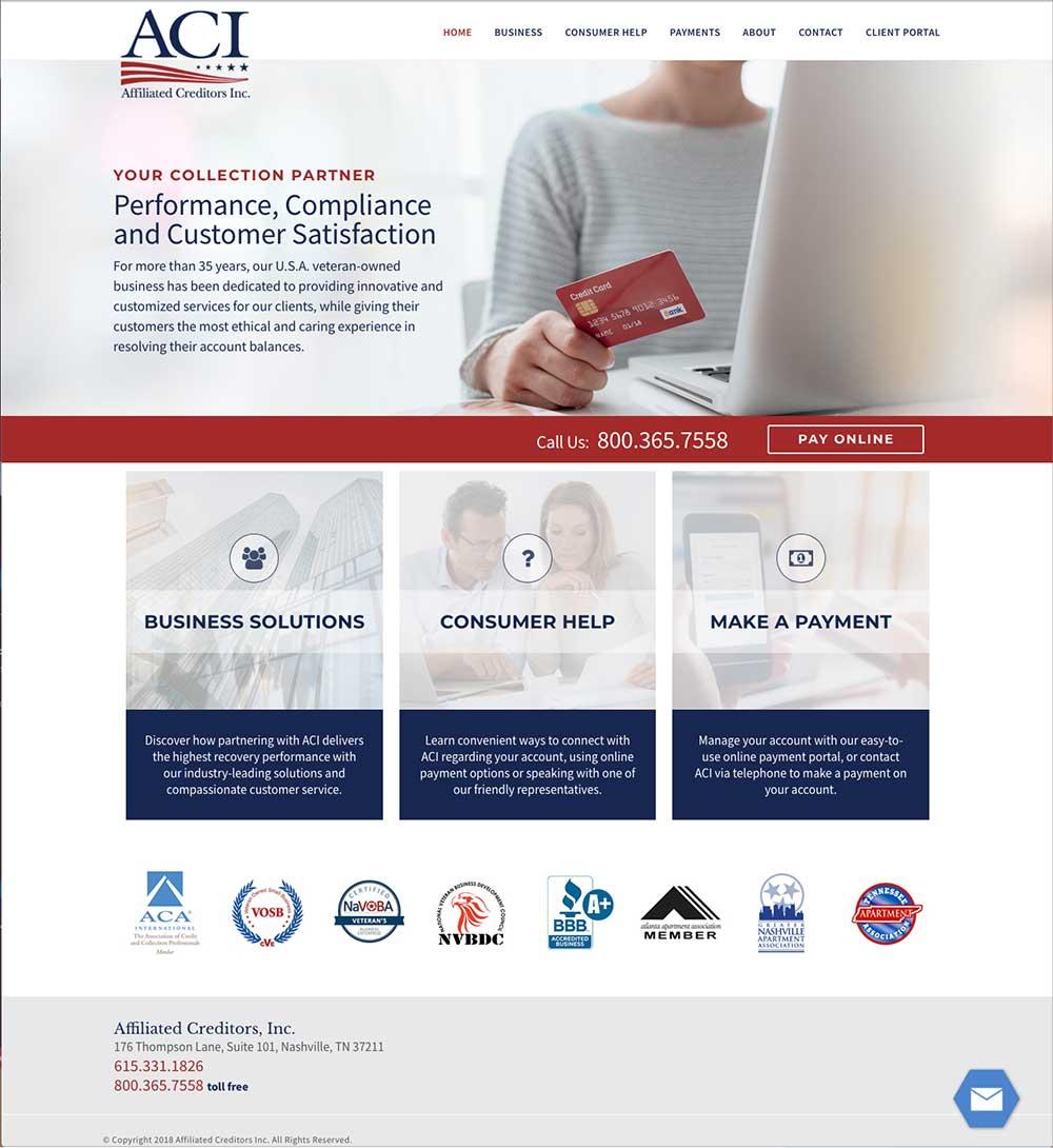 ACI, Inc. Website