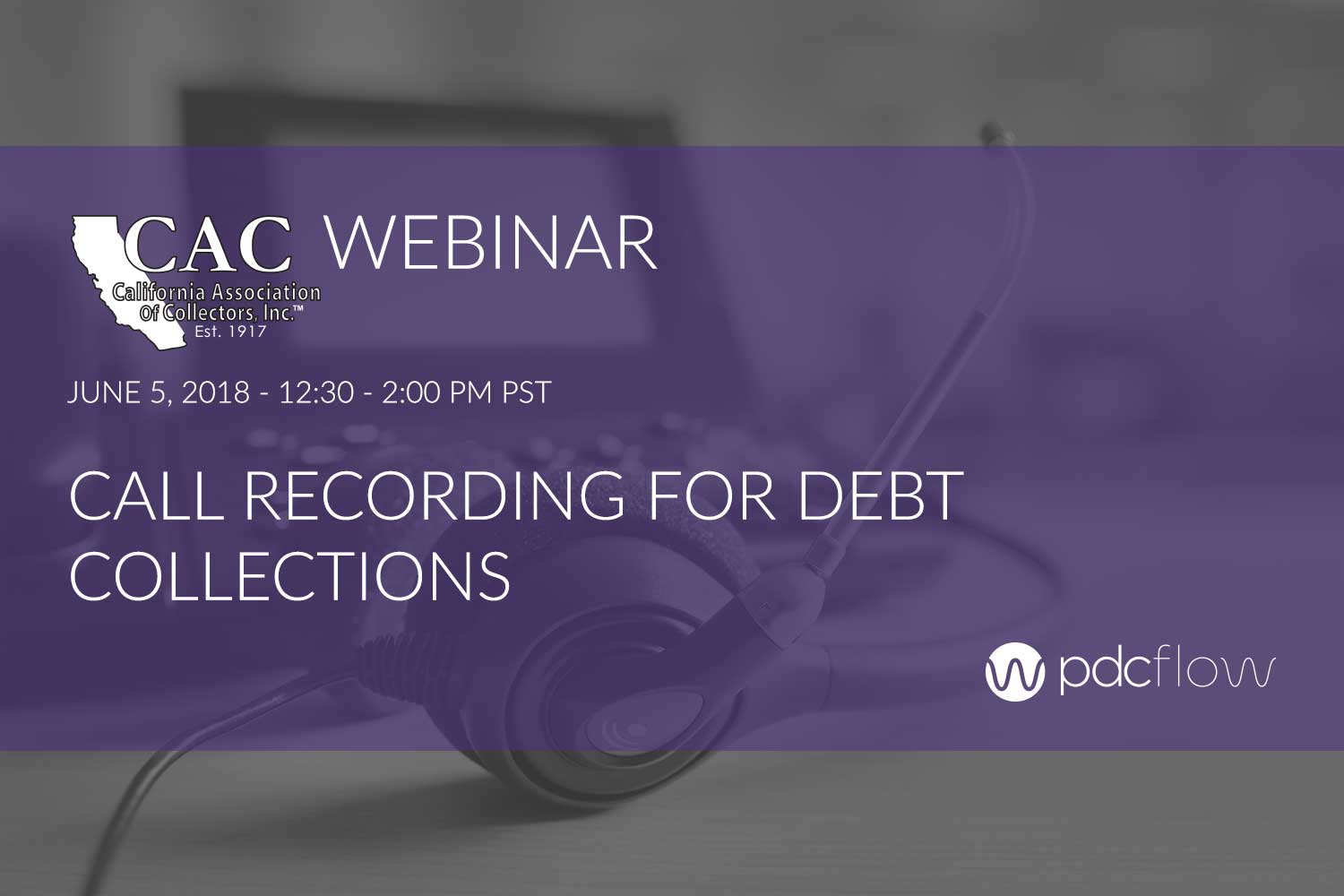 Call Recording for Debt Collection Webinar