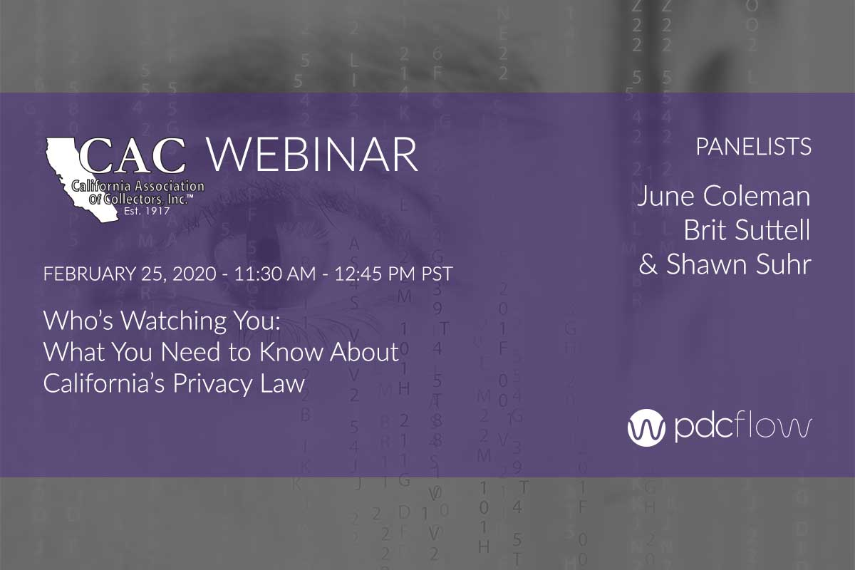 California Privacy Law CAC Webinar