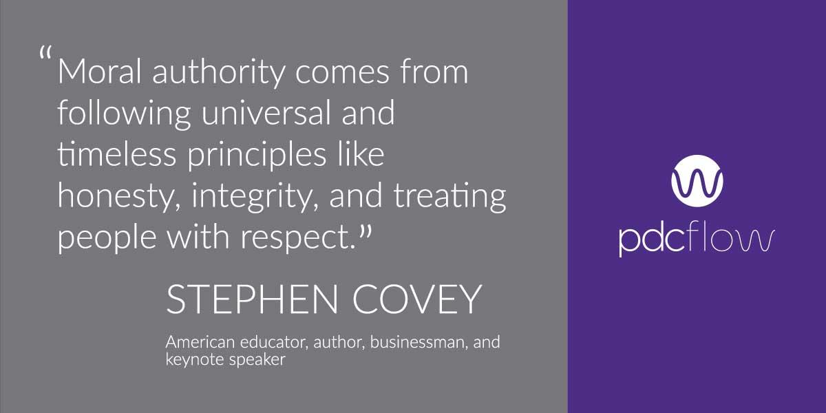 Ethics Training Program - Stephen Covey Quote