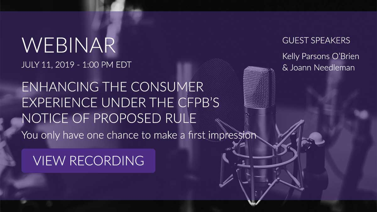 ENHANCING THE CONSUMER EXPERIENCE UNDER THE CFPB'S NOTICE OF PROPOSED RULE