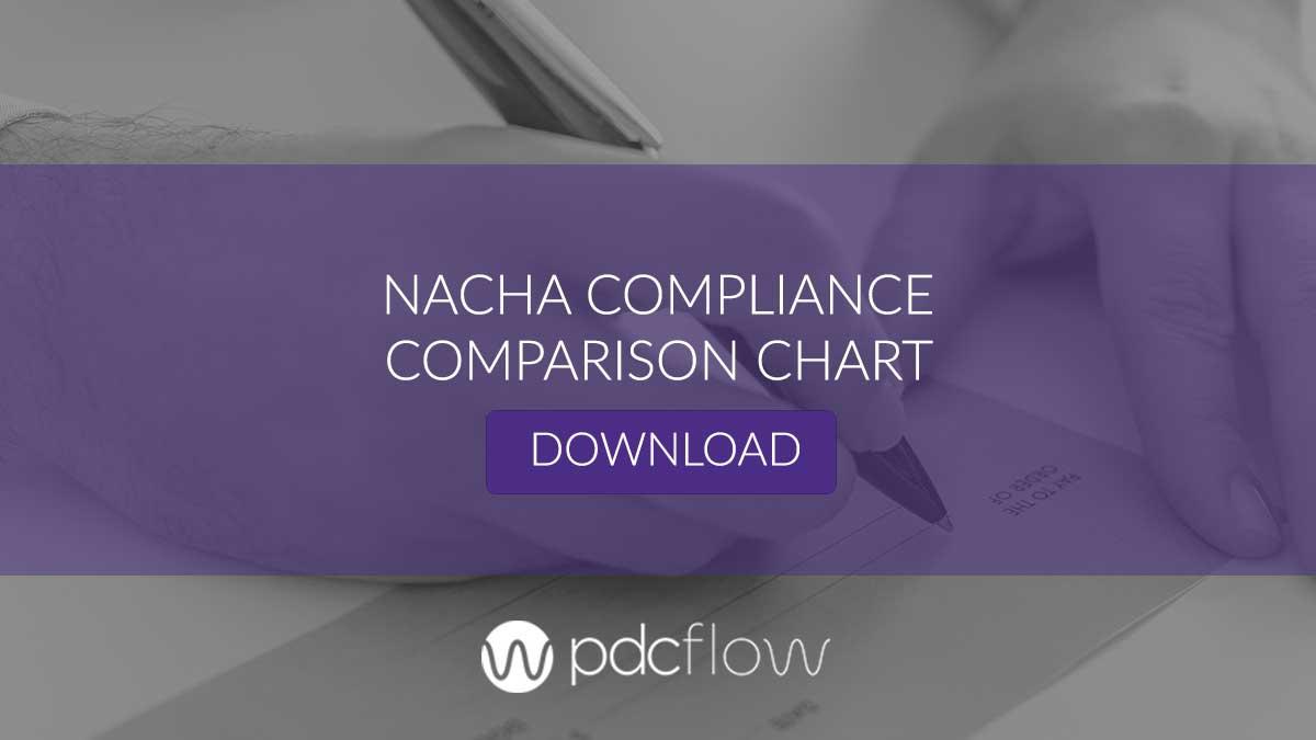 NACHA Payment Compliance Comparison Chart