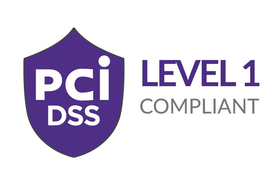 Payment Compliance - PCI DSS Level 1 Compliant