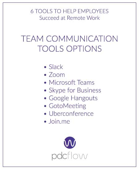 6 Tools to Help Employees Succeed at Remote Work - Team Communication Tools