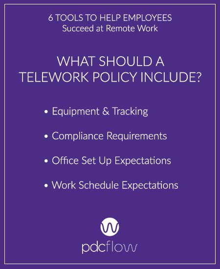 6 Tools to Help Employees Succeed at Remote Work - Telework Policy