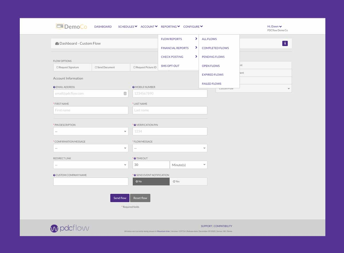PDCflow Software: Financial and FLOW Reporting