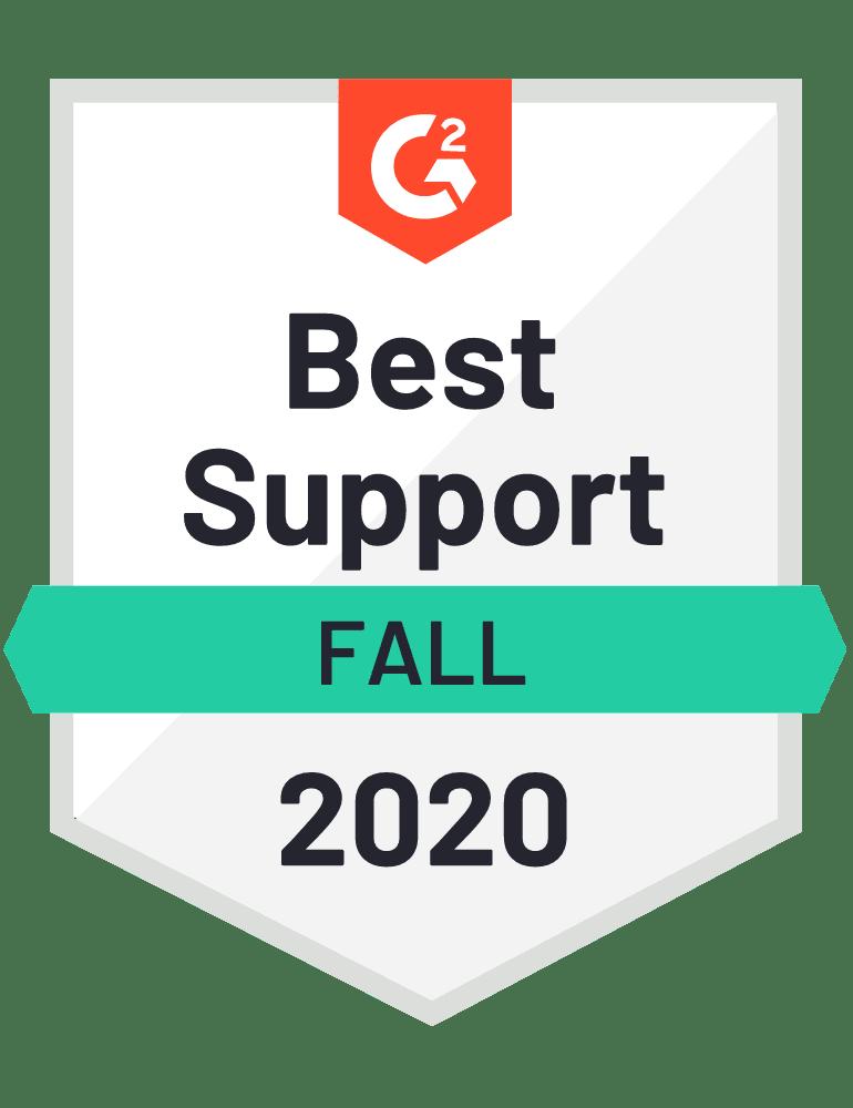 G2 Best Support Fall 2020