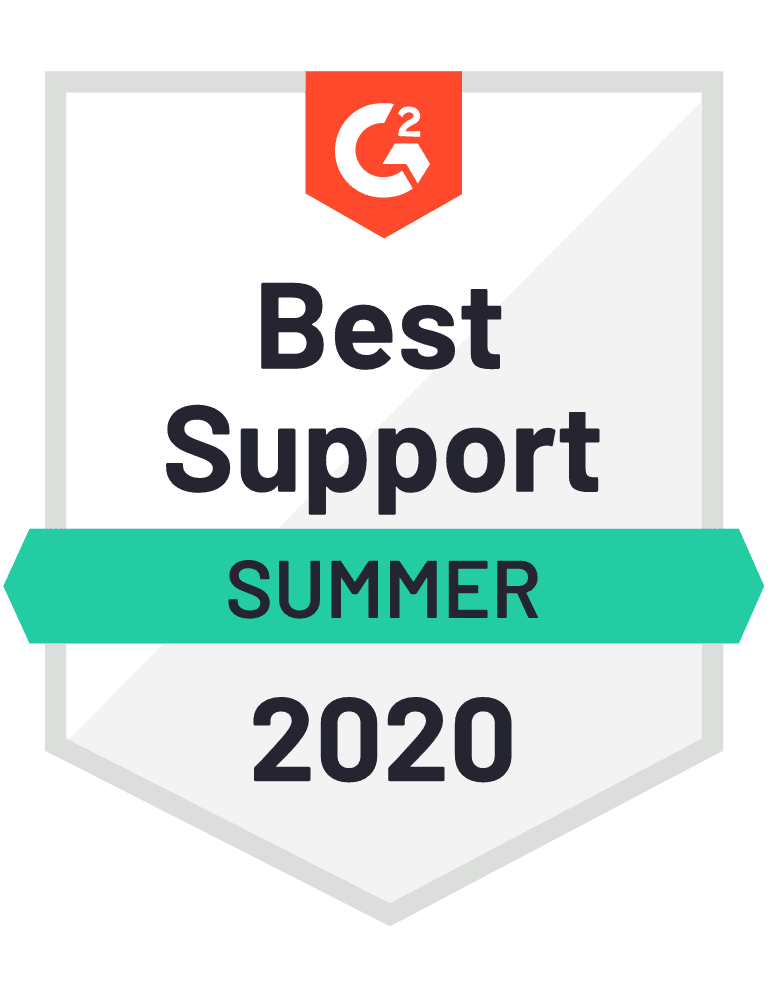 G2 Best Support Summer 2020