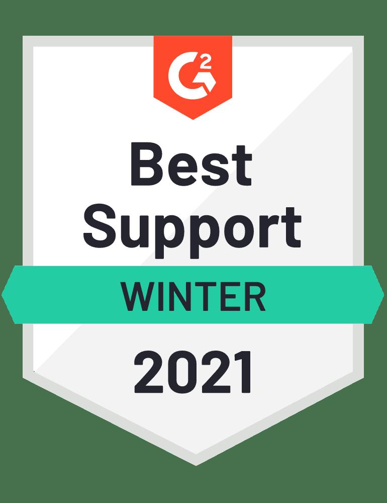 G2 Best Support Winter 2021 PDCflow