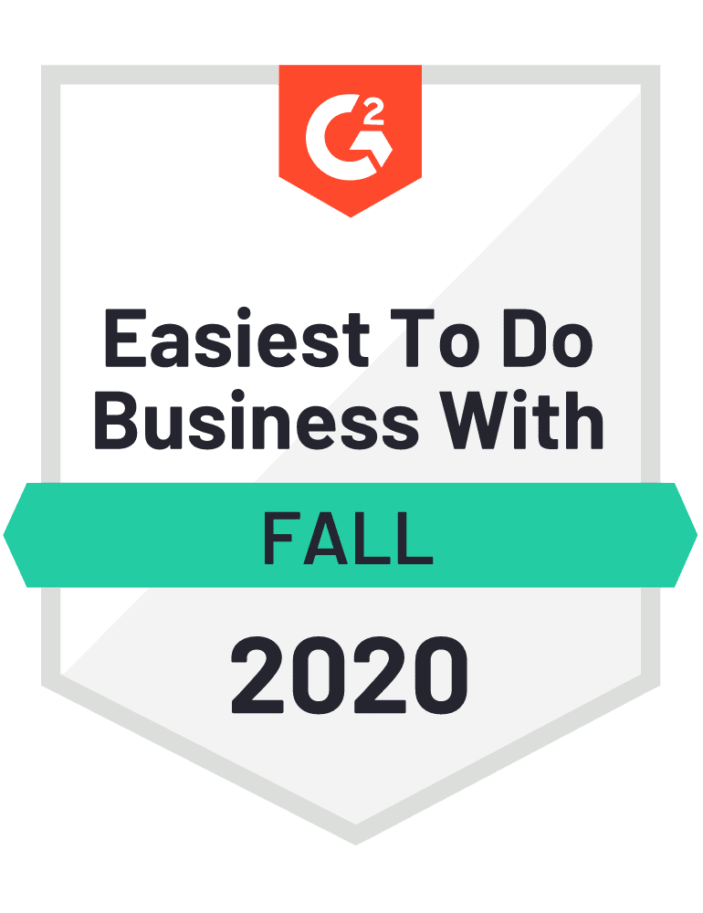 G2 Easiest to do business Fall 2020