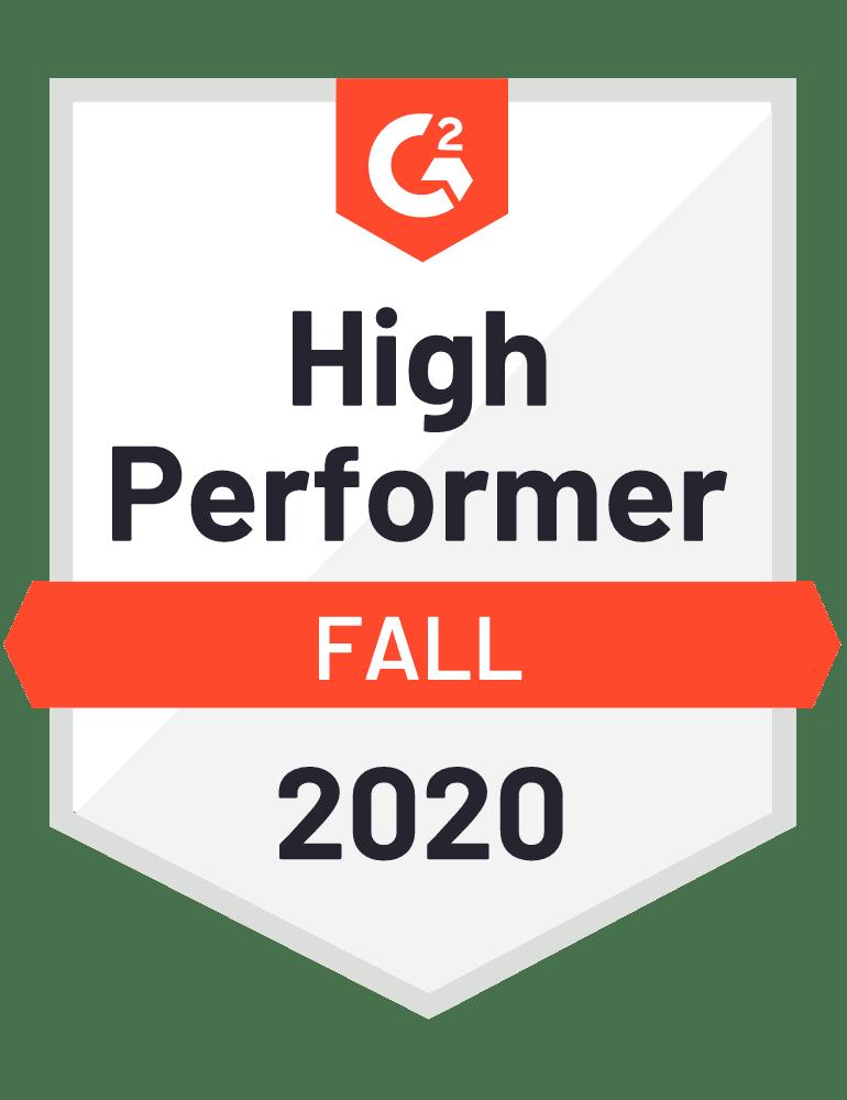 G2 High Performer Fall 2020