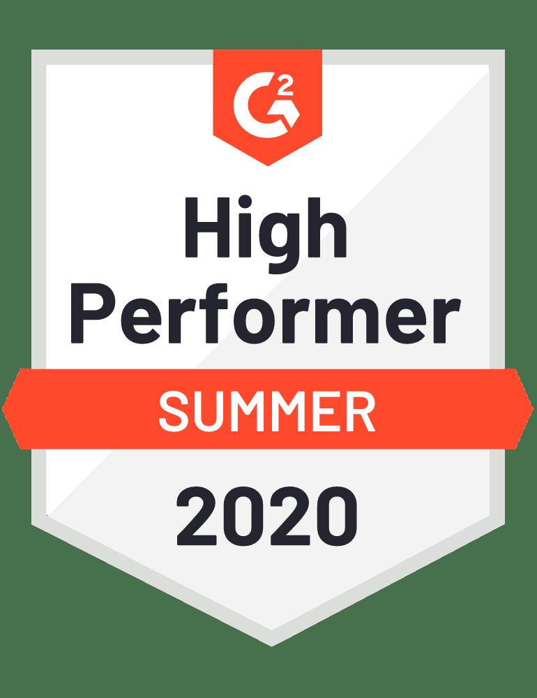 G2 High Performer Summer 2020