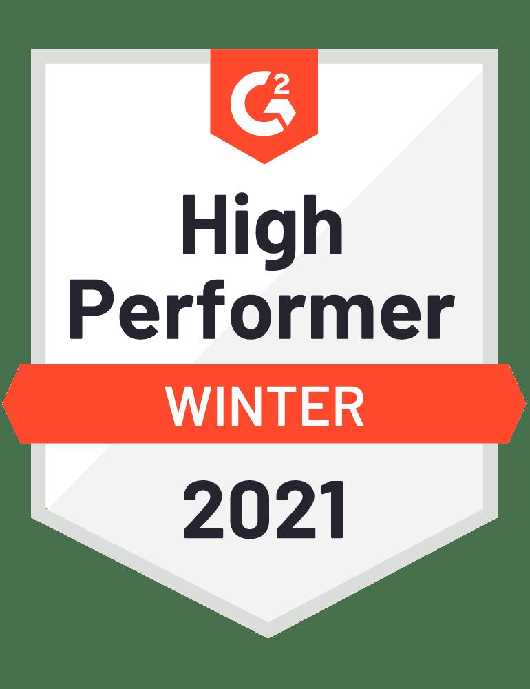 G2 High Perfomer Winter 2021