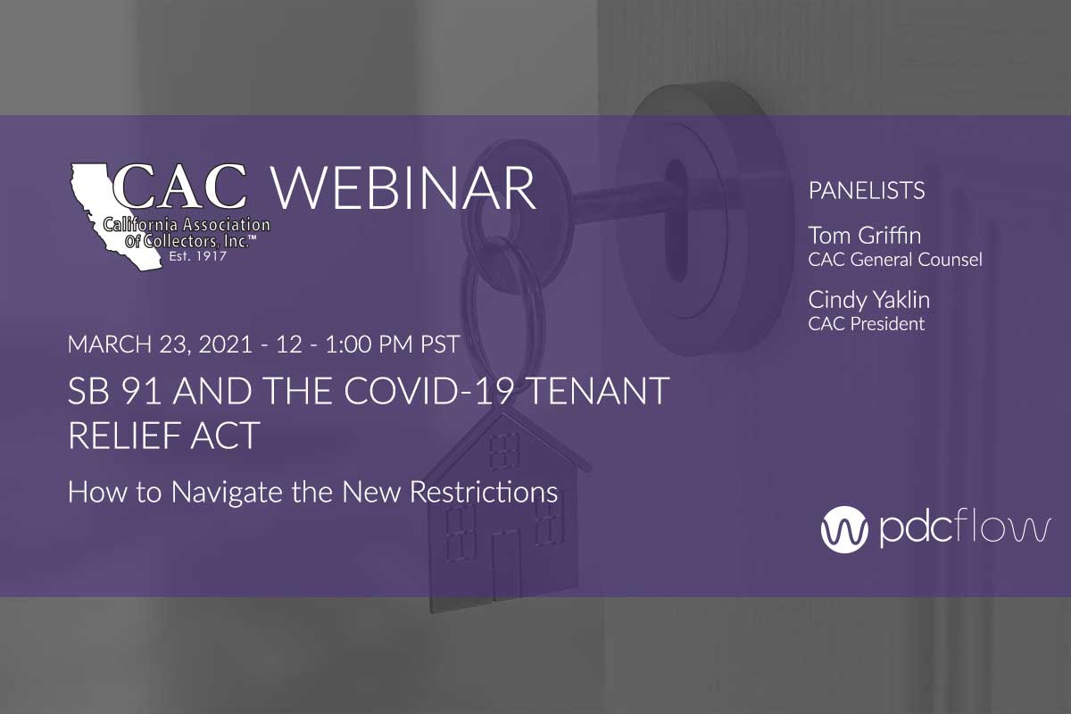 SB 91 and the COVID 19 Tenant Relief Act Webinar