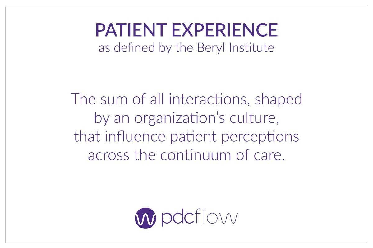 Patient Experience Definition