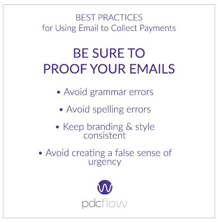 Best Practices for Using Email to Collect Payments: Proof Emails