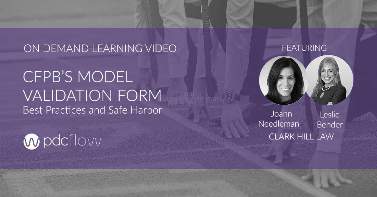 [Video] CFPB's Model Validation Form